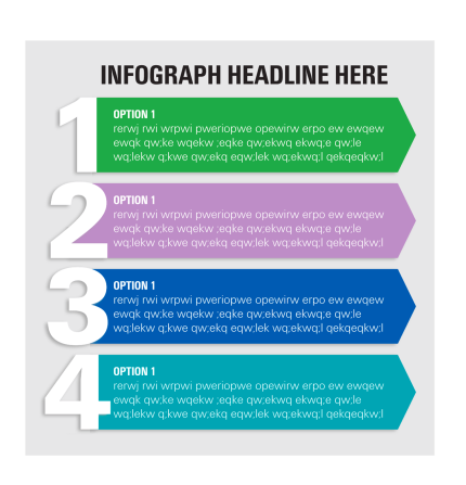 infograph option 1-4