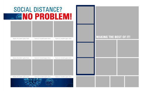 Social distance layout